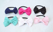 Pack of 6 Fabric Bows