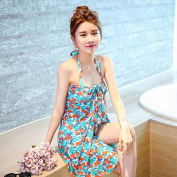 ZHANGYONG*Swimsuit Model 3 piece bikini small particles of chest large scoops smock video thin black poverty seaside lovers swimsuit ,L, Army Green