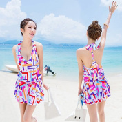 ZHANGYONG*Swimsuit Model 3 piece bikini cover up small particles of steel and shade chest poverty video thin large spa ,L, chest Summer Fun