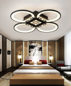 Iron Glass Ceiling Lamps Modern Simplicity Living Room Bedroom White Black Acrylic LED Ceiling Light With Light Source Dimmable