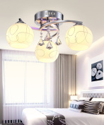 Glass Ceiling Lamps Creative Personality Living Room Bedroom Clothing Store LED Crystal Ceiling Light With Light Source 3 Lights, 5 Lights And 8 Lights