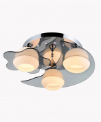 Crystal Glass Ceiling Lamp Simple Modern Ideas Living Room Bedroom LED Ceiling Light With Light Source With Remote Control