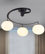 Iron Ceiling Lamps Modern Simplicity Restaurant Children's Room Bedroom Cafe Glass Ceiling Lights With Light Source