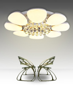 Crystal Ceiling Lamps Modern Simplicity Bedroom Living Room Iron LED Ceiling Lights With Light Source Dimmable