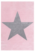 Rug Star Children Happy Rugs Pink/Grey 80x150 cm