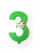 """'Number """"3, 70 x 40 x 20 NEW Wood German Birthday Number Letters"""
