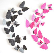FYOUYOU 3D Butterfly Wall Sticker for Living Room Bedrooms Studio Nursery Children Room Decorations