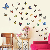 FYOUYOU 88 Butterfly Wall Stickers for Living Room Bedroom