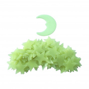 Treasure-House 282 PCS Home Wall Glow In The Dark Stars Stickers Decal Baby Kid's Nursery Room - DIY Wall Decal - Light Green - Plastic Luminous Wall Stickers Bedroom Decoration