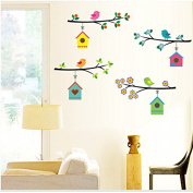 FYOUYOU Home Wall Stickers Bird Cartoon Wall Decoration for Childern Bedroom 500*700mm