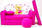 H3 Children's Fold-Out Sofa Couch Sofa Mini 3 in 1 Baby Set + Child Seat and Seat Sofa Cushion/Mattress