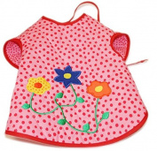 Bib with Sleeves Flower