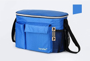 3-in-1 Baby Pram Pushchair Stroller Buggy Organiser Insulated Warmer Cool Bag Universal Fit with 6 Pockets