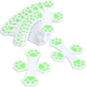 Avery Barn 12pc Glow In The Dark Paw Print Safety Bummer Corner Guard Stickers