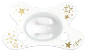 Difrax DIFR3 Soother Natural Pacifier, 0-6 Months, Gold