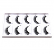 Bluelans® 5 Pairs Lady Beauty Makeup False Eyelashes Long Natural Eye Lashes Extension