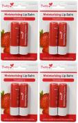 x4 Pretty Moisturising Lip Balm Strawberry( 8 Lip Balms).