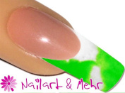 2 °Färbiges Acrylic Powder 5g 2tones Envyu # 2T White/Neon Green - For a quick yet effective Nail Art