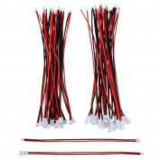 eBoot 20 Pairs 1.25 mm JST XH 2 Pin Micro Electrical Male and Female Connector Plug with 10 cm Silicon Wire Cable