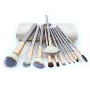 Hotrose12PCS Professional Makeup Cosmetic Blush Brush Eyeliner Eye Shadow Brow Lip Brush