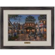 Reflective Art, Harley's Diner, Dark Walnut Framed, 70cm by 90cm