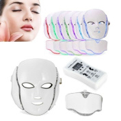 Home Care Wholesale® Best UK LED Photon 7 Colour Light Therapy Mask with Neck | Face Beauty Skin Care Treatment Phototherapy Mask