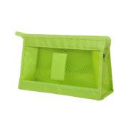 Simple Mesh Travel Make Up Bag Wash Pouch Cases Organiser Bulk Clutch Bags Handbag Green