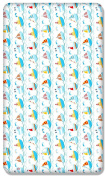100% COTTON FITTED SHEET WITH PRINTED DESIGN FOR BABY COT BED 140x70CM