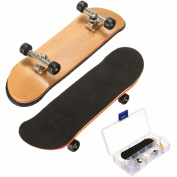 Pizies Professional Wood Mini Fingerboards Assembly Skateboard Scooter Fans Toy Gift Black