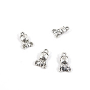 Price per Lot 270 PCS Jewellery Making Charms Antique Silver Tone Colour Jewellery Charme Findingss Bulk Wholesale Suppliers Arts Crafts C5OT2 Teddy Bear