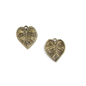 30pcs Jewellery Making Charms Jewellery Charme Antique Bronze Brass Tone Findings Lots Bulk Supply Supplies Repair Vintage Retro AD089 Tree Leaf