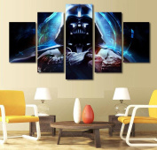 Star Wars The Force Awakens, Canvas Wall Art Framed 5 Panel (Size 2