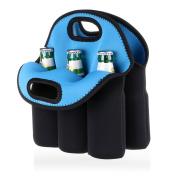 BTSKY 6 Bottles Insulated Neoprene Carrier Tote Carry Case Bag for Beer Baby Bottle Cans Drinks