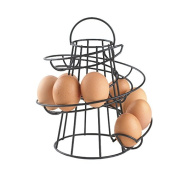 Neotechs® Black Kitchen Storage Spiral Helter Skelter Egg Holder Stand Rack Holds Up To 18 Eggs
