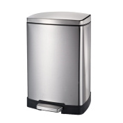 Stainless Steel Trash Cans Pedal Kitchen Bathroom Mute,Silver