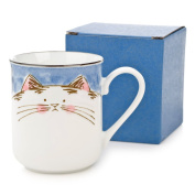 Blue Cat Japanese Tea Mug