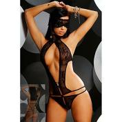Black Perspective Women Sexy lingerie Nightwear Jumpsuit