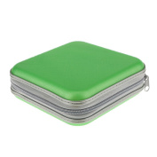 Veroda Green 40 Disc CD DVD Case Storage Bag Album Holder Box Cover Organiser Records Pouch Wallet