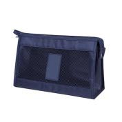 Simple Mesh Travel Make Up Bag Wash Pouch Cases Organiser Bulk Clutch Bags Handbag Navy