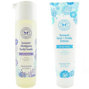 The Honest Company Dreamy Lavender - Shampoo + Body Wash (300ml) & Unscented Face + Body Lotion