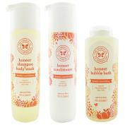 The Honest Company Apricot Kiss - Shampoo + Body Wash (300ml) & Conditioner (300ml) & Bubble Bath