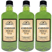 Village Naturals Therapy Aches and Pains Muscle Relief Foaming Bath Oil and Body Wash 470ml by Village Naturals Therapy