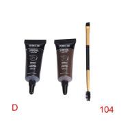 Binmer(TM) 2pc Brown Waterproof Tint Eyebrow Henna With Mascara Eyebrows Paint Brush Beauty