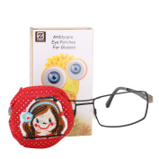 Plinrise Cartoon Pure Cotton Reusable Eye Patches - Amblyopia Eye Patches For Glasses, Strabismus, Lazy Eye Patch For Children,Vision Care Eye Mask - Girl Right eye