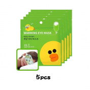 MEDIHEAL X LINE FRIENDS Warming Eye Mask (Citrus) 5pcs
