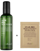 Benton Aloe BHA Skin Toner, 200ml with a Sheetmask