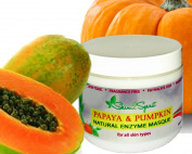 Papaya & Pumpkin Natural Enzyme Masque - Exfoliate Skin Naturally, Safely & Gently - Made with Organic Ingredients