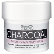 Advanced Clinicals Charcoal Detoxifying Mask with Rose Water to help improve the look of pores, fine lines and wrinkles. Supersize 160ml