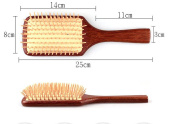 Welwel Natural Red Sandalwood Hair Brush Paddle Brush No Static Brush Massage Hair Brush Detangle Hair Brush With Premium Quality