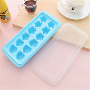 Qearly Lovely Star Shape Rectangular Ice Mould Ice Tray-Blue